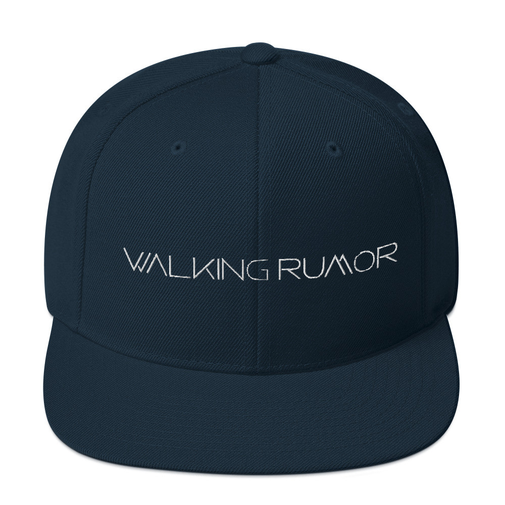 Walking Rumor Snapback Hat