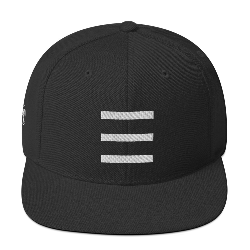 """3 Stripes Design w. Logo"" Walking Rumor Snapback Cap"