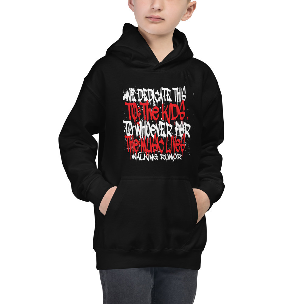 """Dedicate to This Lyrics"" Hoodie Kids"