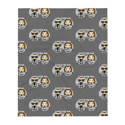 Throw Blanket - small logos grey