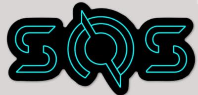 SOS Blue TRON Sticker