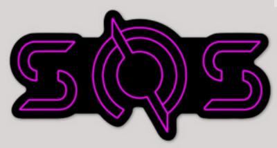 SOS Pink TRON Sticker