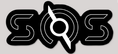 SOS White Outline Sticker