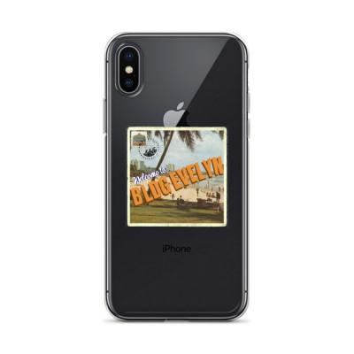 """BLDG Evelyn Postcard Logo"" iPhone Case"