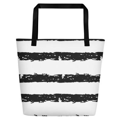 jagged lines Beach Bag