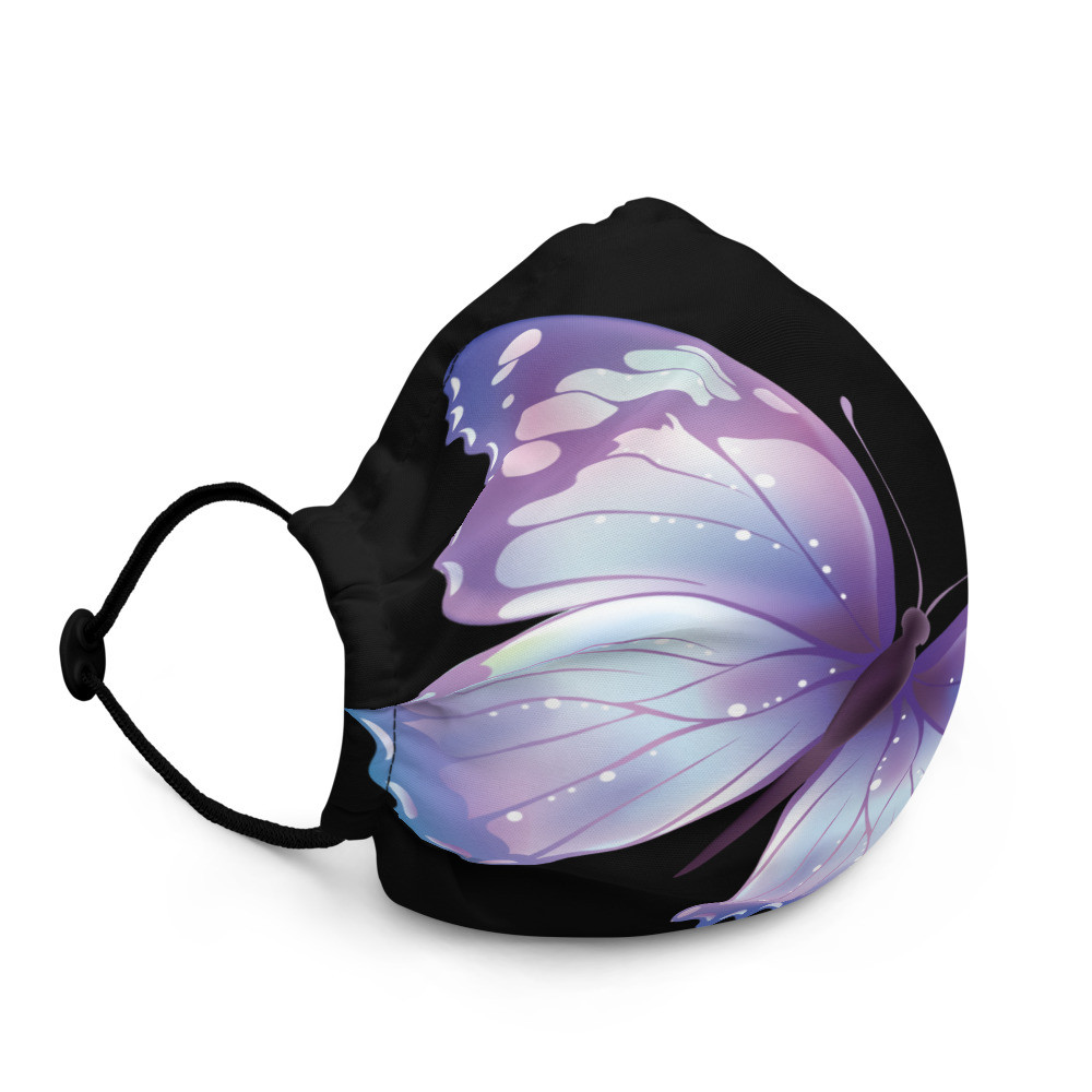 Purple Butterfly Premium face mask