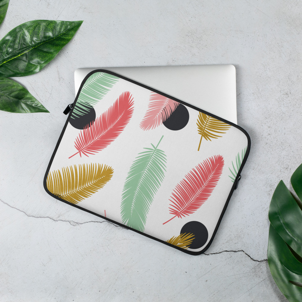 Glam Feathers Laptop Sleeve