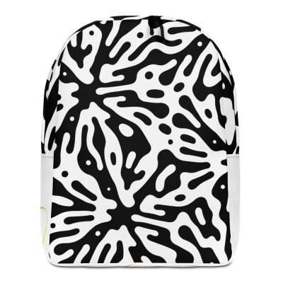 Splash & White Minimalist Backpack