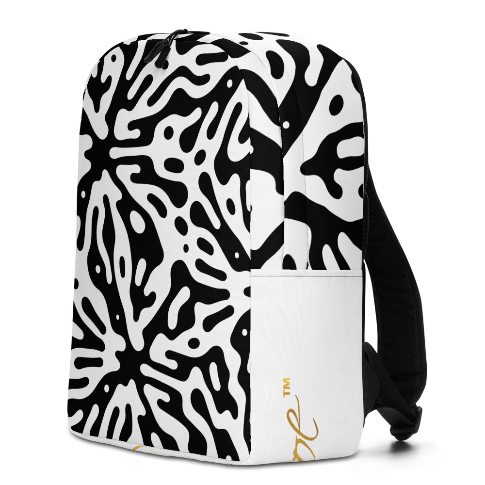 Splash & White Minimalist Backpack