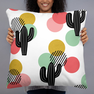 Funky Cactus P.M™ Basic Pillow