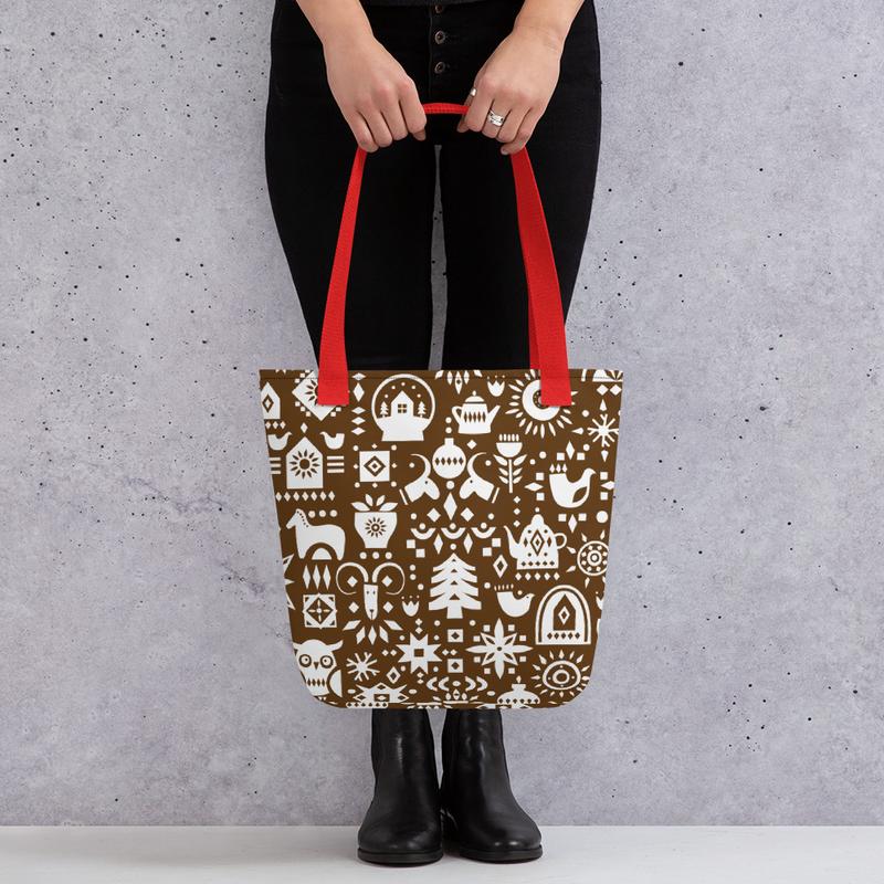 Brown Holiday Tote bag