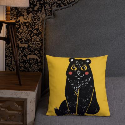 Cute Bear P.M Premium Pillow
