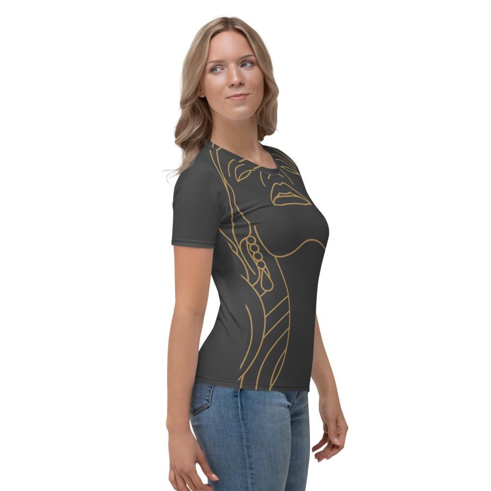 Dark Grey Beauty Art P.M™ Women's T-shirt