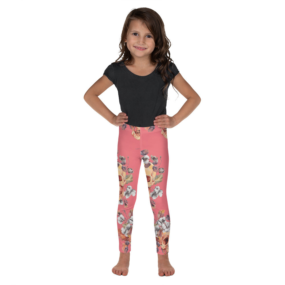 Hell Yeah Clothing™ Flower Skull Kid's Leggings
