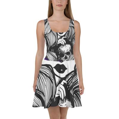 Hell Yeah Graphics™ Girl & Skull Skater Dress