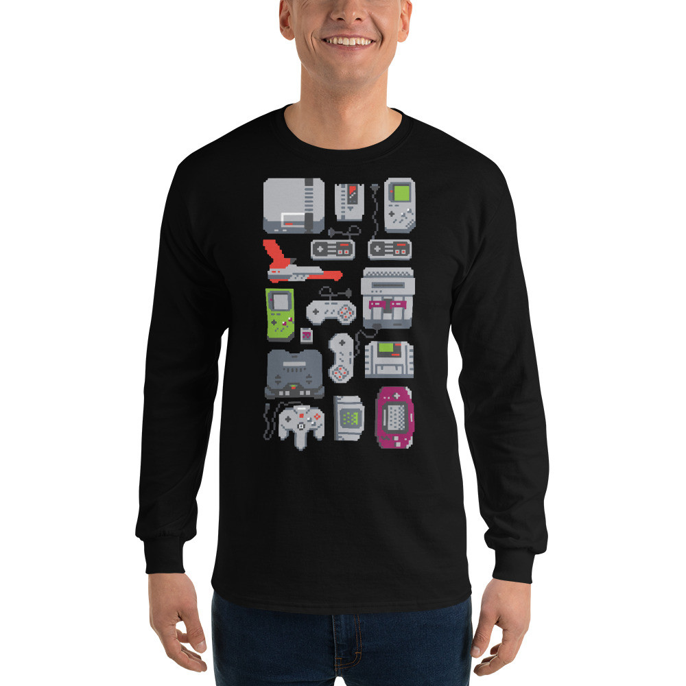 A Pixel Of My Childhood Men's Long Sleeve Shirt