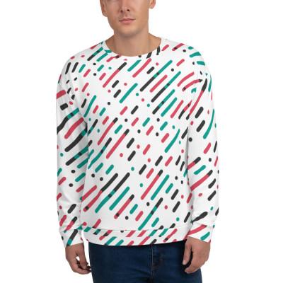 Superpuestas Diagonales Paralelas Unisex Sweatshirt