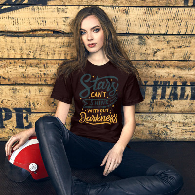 Stars Cant Shine Without Darkness Short-Sleeve Unisex T-Shirt