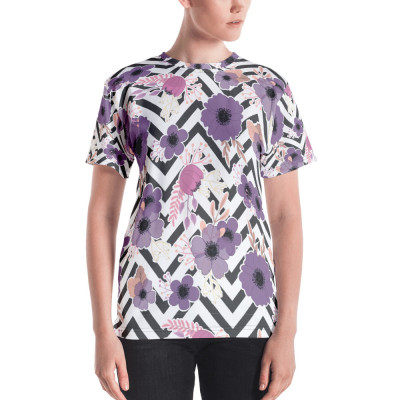 Purple Floral Women's T-shirt