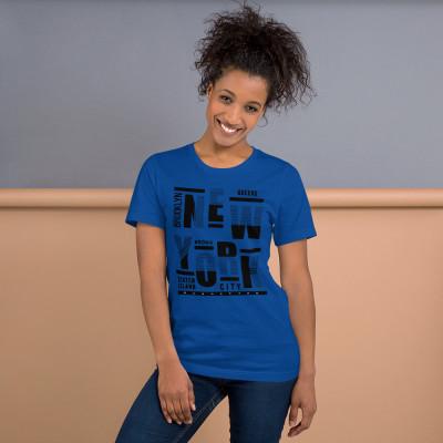 New York Brooklyn Queens Bronx Staten Island Manhattan Short-Sleeve Unisex T-Shirt