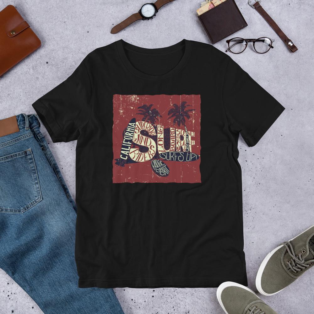 California Surf's Up Short-Sleeve Unisex T-Shirt
